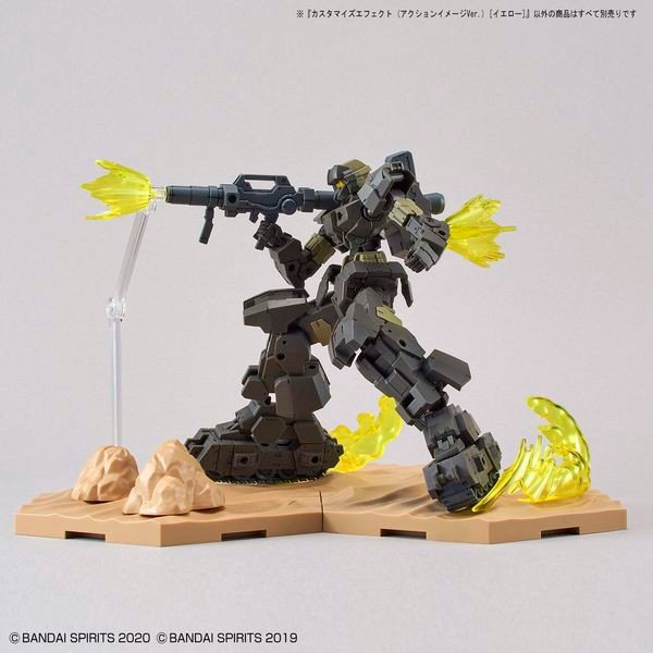 cách chụp hình gundam Customize Effect Action Image Ver Yellow 30MM