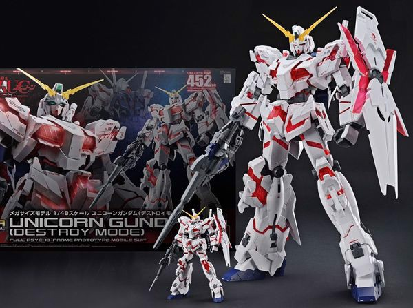 review Unicorn Gundam Destroy Mode MegaSize