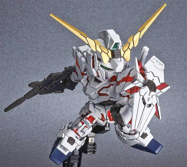 review Unicorn Gundam Destroy Mode SD Cross Silhouette