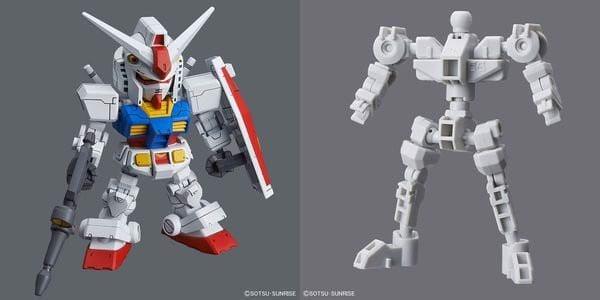 rx-78-2 gundam sd cross silhouette frame set gundam sd có khung xương