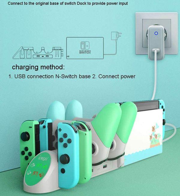 Sạc mở rộng Dock máy Nintendo Switch iPega Animal Crossing chính hãng
