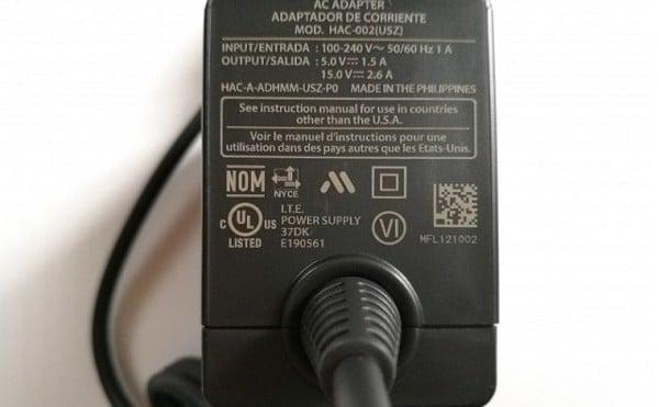 sạc Nintendo Switch chính hãng dòng điện