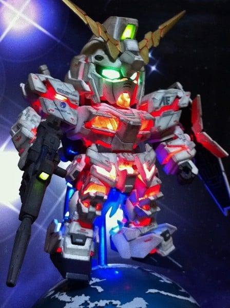 SD Unicorn Gundam Destroy Mode LED - Custom Gundam Build