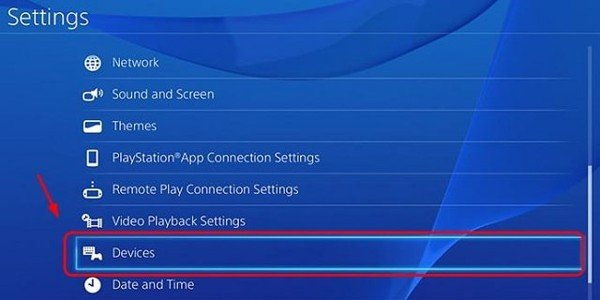 setting devide ps4
