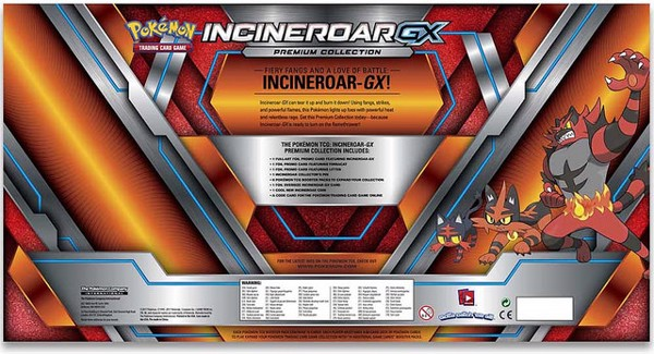 INCINEROAR GX PREMIUM COLLECTION POKEMON TRADING CARD GAME