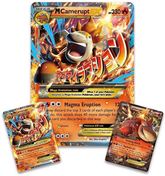 MEGA CAMERUPT EX PREMIUM COLLECTION POKEMON TRADING CARD GAME
