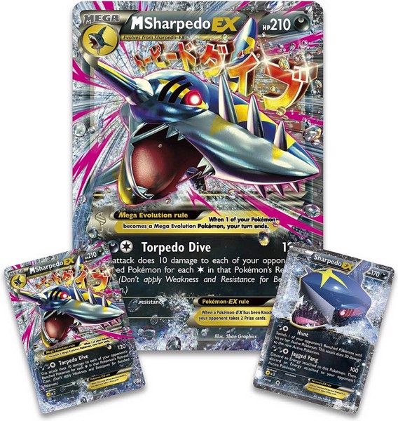 MEGA SHARPEDO EX PREMIUM COLLECTION POKEMON TRADING CARD GAME