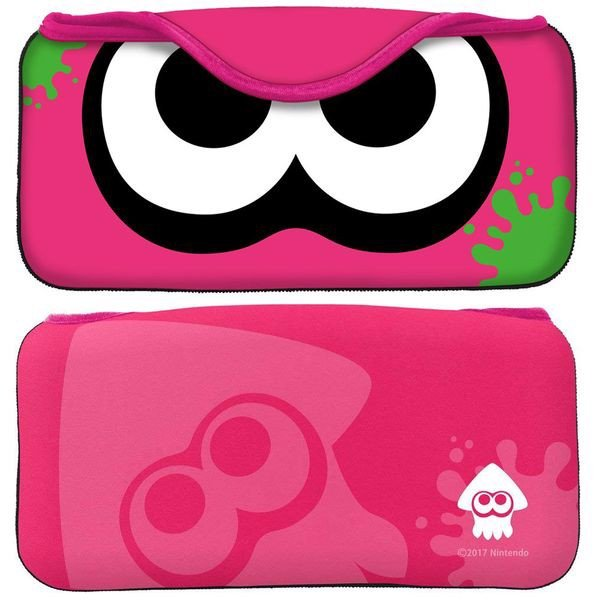 shop game bán phụ kiện quick pouch nintendo switch splatoon pink