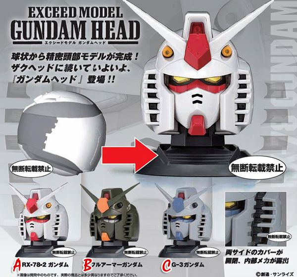 shop gundam bán Exceed Model Gundam Head 1