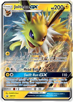 shop pokemon bán thẻ bài Pokemon Jolteon-GX Elemental Power Tin