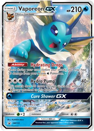 shop pokemon bán thẻ bài Pokemon Vaporeon-GX Elemental Power Tin
