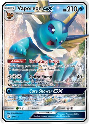 shop pokemon bán thẻ bài Pokemon Vaporeon-GX Elemental Power Tin