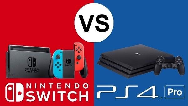 So sánh kích thước giữa Nintendo Switch và PS4 Pro