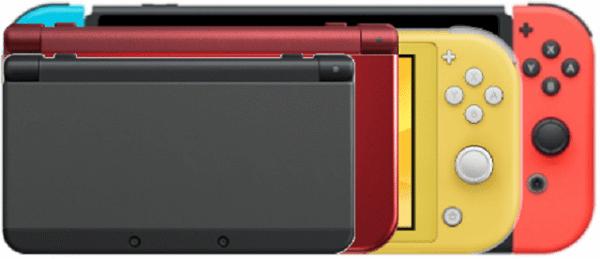 so sánh kích thước Nintendo Switch Lite