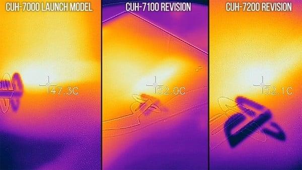 so sánh nhiệt độ máy ps4