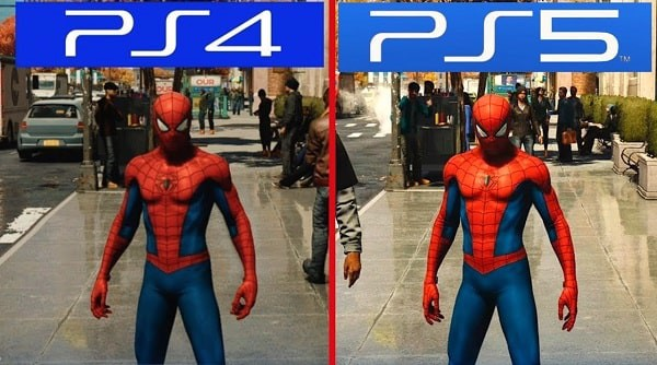 spider-man ps4 vs ps5