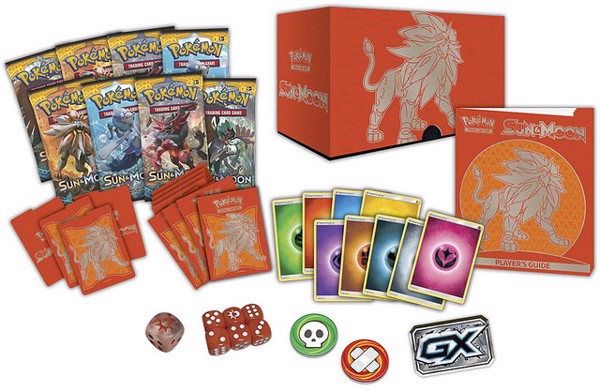 SUN  MOON ELITE TRAINER BOX SOLGALEO VERSION POKEMON TRADING CARD GAME