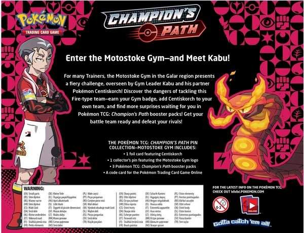 sưu tập bài Pokemon Motostoke Gym Champions Path Pin Collection real