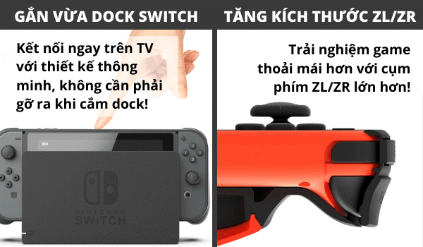 Case ốp lưng Nintendo Switch gắn vừa Dock Skull & Co