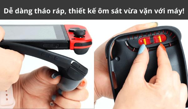 Hand Grip Ốp lưng Nintendo Switch dễ dàng thay đổi