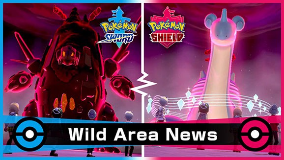 Pokemon Sword and Shield Gigantamax Coalossal Lapras Wild Area