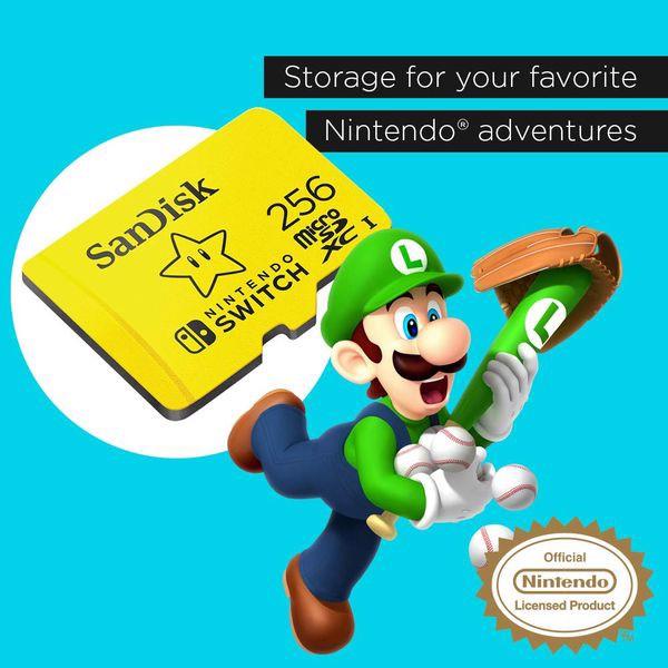 tải game Thẻ nhớ SanDisk MicroSDXC UHS-I 256GB Nintendo Switch