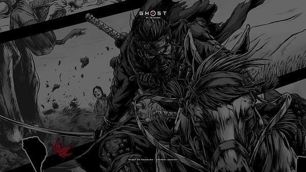 tải về hình nền game ps4 ghost of tsushima pc