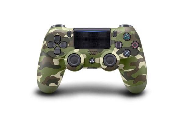 Tay cầm PS4 màu xanh Camo