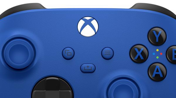 tay cầm Xbox Wireless Controller Shock Blue chơi game pc