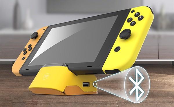 shop nintendo bán phụ kiện dock mini kèm Bluetooth cho Nintendo Switch xuất TV