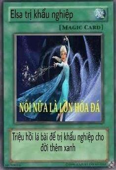 Thẻ bài Yugioh chế Elsa