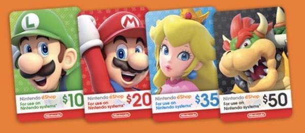 Thẻ nạp tiền Nintendo eShop