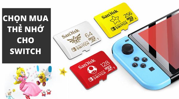 thẻ nhớ Nintendo Switch Sandisk chất lượng cao