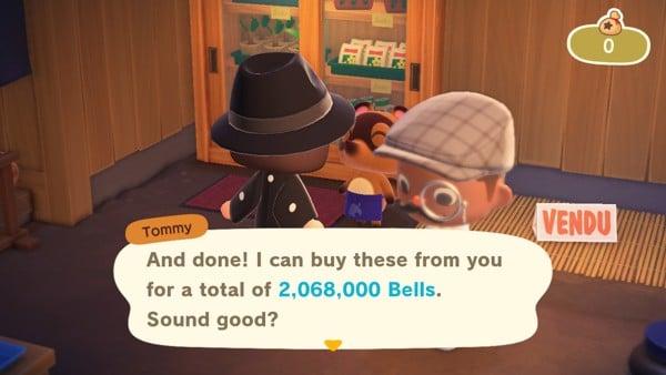 Tommy Timmy Nook Cranny thu mua Turnip trong Animal Crossing New Horizons