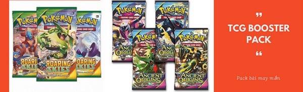 Thẻ bài booster pack của Pokemon Game Trading card bán tại Pokémon Center Sài Gòn