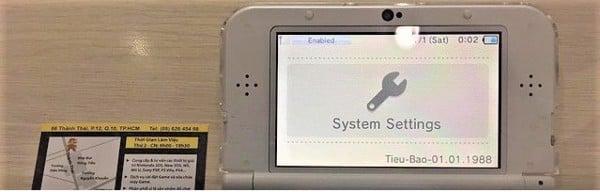 tùy chỉnh show NAND Luma 3DS