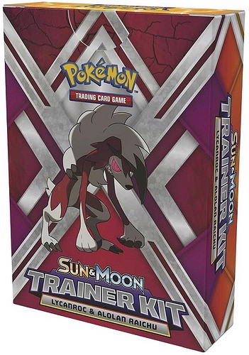 SUN  MOON TRAINER KIT ALOLAN RAICHU  LYCANROC POKEMON TRADING CARD GAME