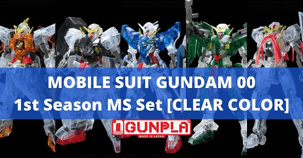 Mô hình Mobile Suit Gundam 00 1st Season MS set (Clear Color) (HG00 - 1/144) LImited Bandai