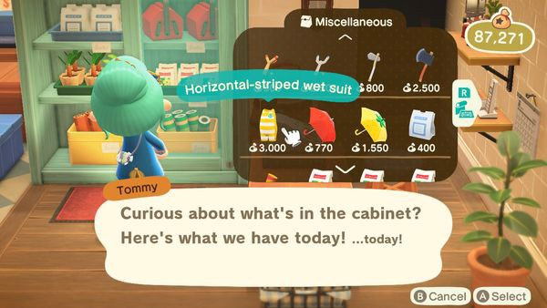 wet suit Animal Crossing New Horizons