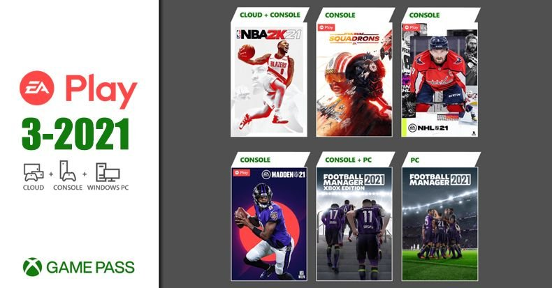 Xbox Game Pass EA PLAY 3-2021