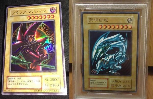 thẻ bài yugioh Dark Magician Blue Eyes White Dragon