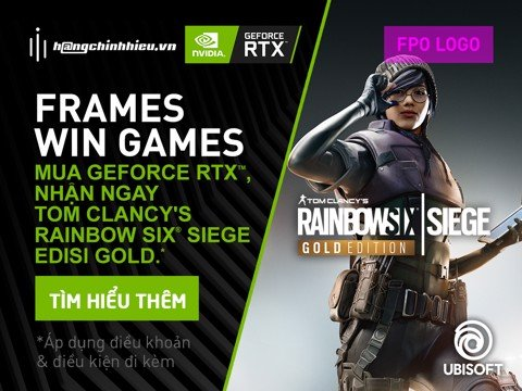 MUA GEFORCE RTX™ SERIES NHẬN NGAY CODE GAME TOM CLANCY'S RAINBOW SIX SEIGE GOLD EDITION