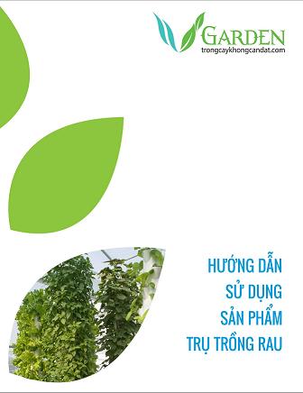 chậu trồng cây thủy canh - khí canh trụ đứng - sách hướng dẫn sử dụng
