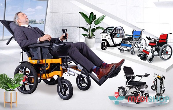 Các loại xe lăn phổ biến trên thị trường