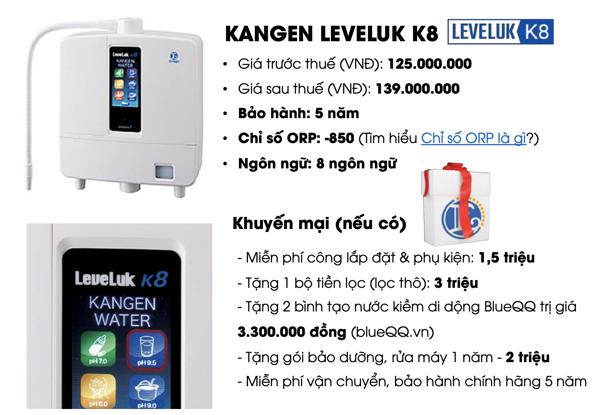 Giá bán máy lọc nước Kangen K8