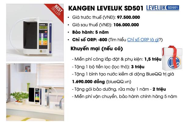 Giá bán máy lọc nước Kangen SD501