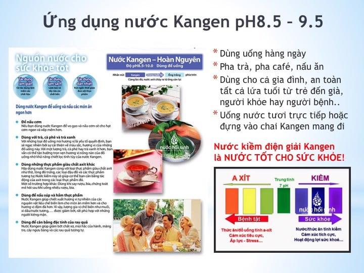 cách dụng nước Kangen 1
