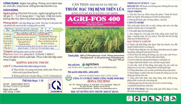 Agri-Fos 400 tren cac loai cay trong