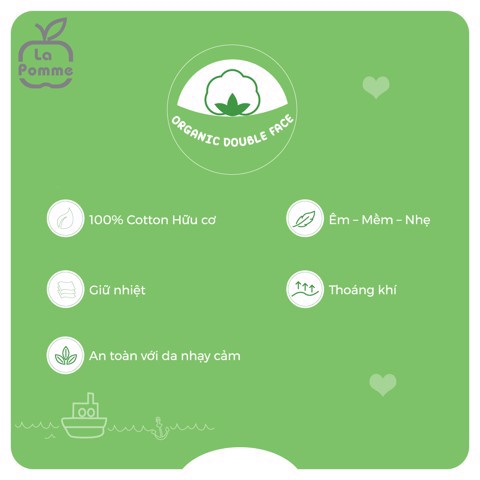 Vải Organic Double Face