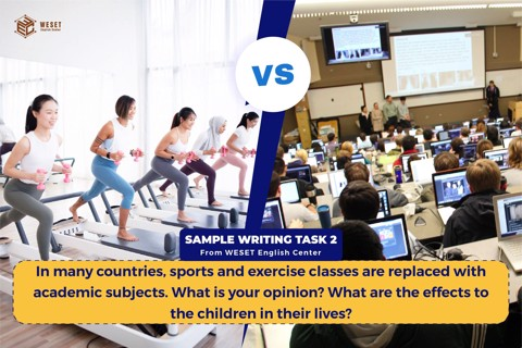 In many countries, sports and exercise classes are replaced with academic subjects. What is your opinion? What are the effects to the children in their lives?